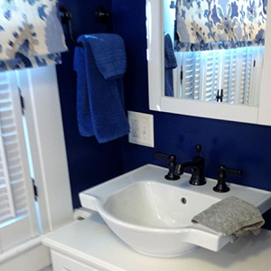 Brilliant Blue Bath